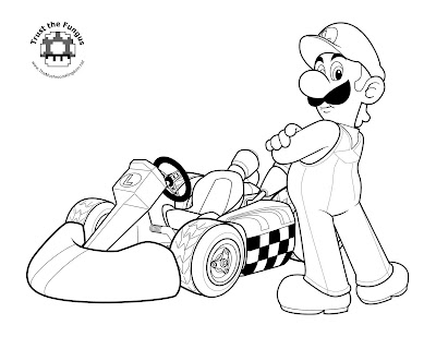 jimbo's Coloring Pages: Mario Kart Wii coloring pages