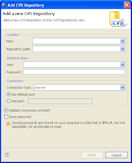 Pasting a CVS URL | Eclipse Hints, Tips, and Random Musings