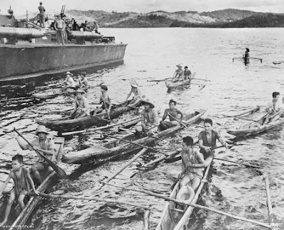 Philippines People Filipino Pinoy Pilipinas Old Black White Pictures leyte world war II wwii sea boat banca Pt boat rowing Battle of Surigao Strait torpedo leyte noon