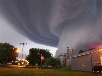 طوفان در ايالت آيووا - آمريكا