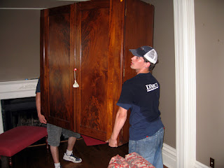 Moving the armoire