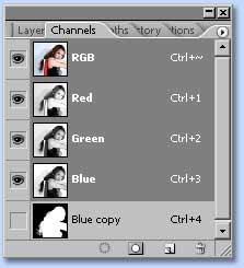 tutorial photoshop untuk membuat seleksi dengan channel dan layer mask, gambar 6