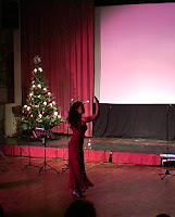 Andrea Gerak performing the song Don't Fall Asleep