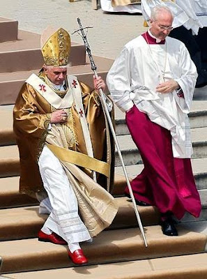 Pope Benedict wearing his red shoes