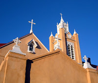 Mission in Albuquerque's Old Town district.