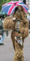 Person in Wookie costume