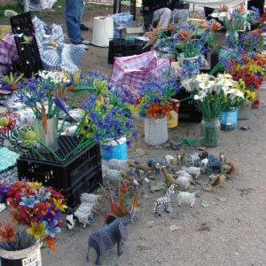 Bead flower sellers