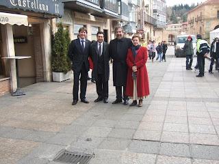 Convenio Soria y Zaragoza. 5 febrero 2008. En la imagen Alcalde de Soria, senador Félix Lavilla, Alcalde de Zaragoza y diputada Eloisa Álvarez