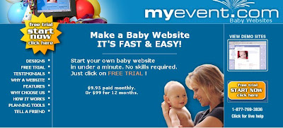 Free Baby Website Baby.Myevent.Com