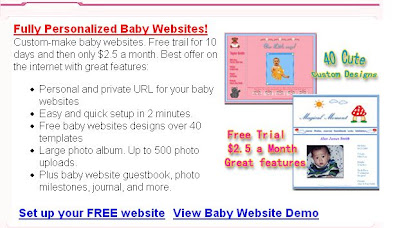 Free Baby Website HappyGreetings.net