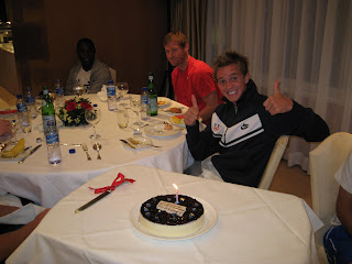 Holden turns 23 in Hong Kong with the Olympic team.