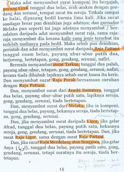 Daerah dalam Wilayah Negara Kedah,ms15 Undang-Undang Kedah