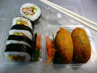 inari and sushi from 7/11