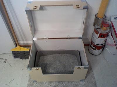 kocia kuweta w pudełku
