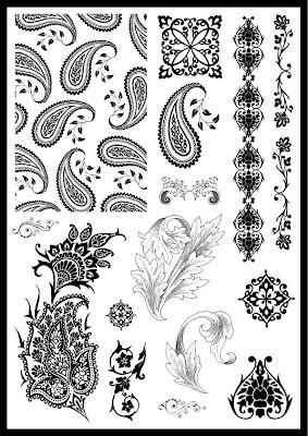 Filigree stencil patterns