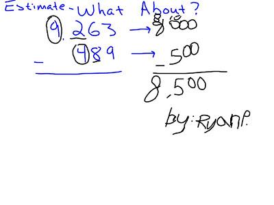 Mr. O'Brien's 4th Grade Blog: Estimating Adding and