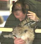 Elliot Spitzer and dog