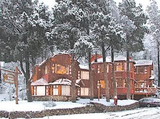 Las cabañas en invierno