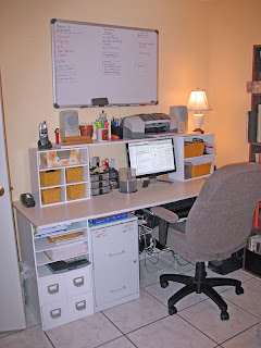 Desk space and floor space... All in the same room!
