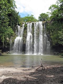 Erica Ridley in Costa Rica: Waterfall