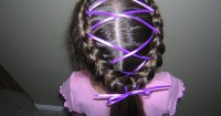 Inside-Out French Braids With Ribbons | Hairstyles For ...