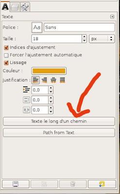 Gimp : écrire le long d'une courbe ou d'une forme