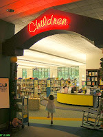 Excited to enter the children room at the Library