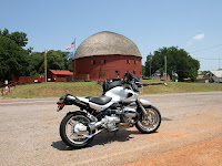 Biking by the Round Barn