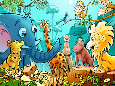 Children's African Animals wallpaper, New planet in constellation Cancer,