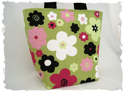 Retro Kiwi Flowers Tote from Pink Lemonade