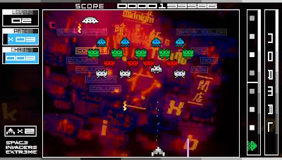 Space Invaders action