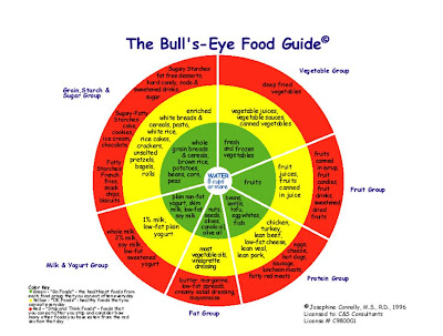 diagram food guide wiring for led tube lights stephanie s healthspot the bull eye an alternative to pyramid helps individuals understand healthy dieting according this a person diet