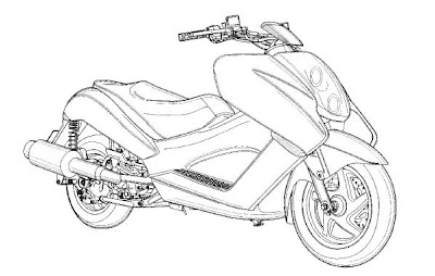 Hrm... A new Honda scooter design. Maybe the Helix is