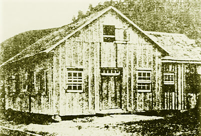 Primeiro templo de Gaspar Alto, inaugurado em 23 de março de 1898