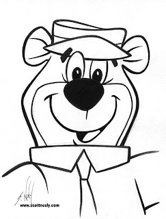 Scott Neely's Scribbles and Sketches!: YOGI BEAR!