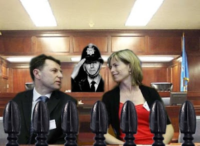 McCanns sitting in the dock of the court
