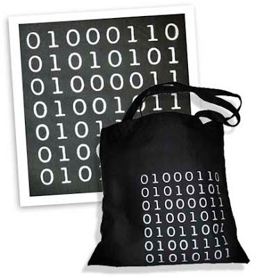 Binary code handbag