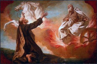 Santo Elias subindo ao Céu no carro de fogo