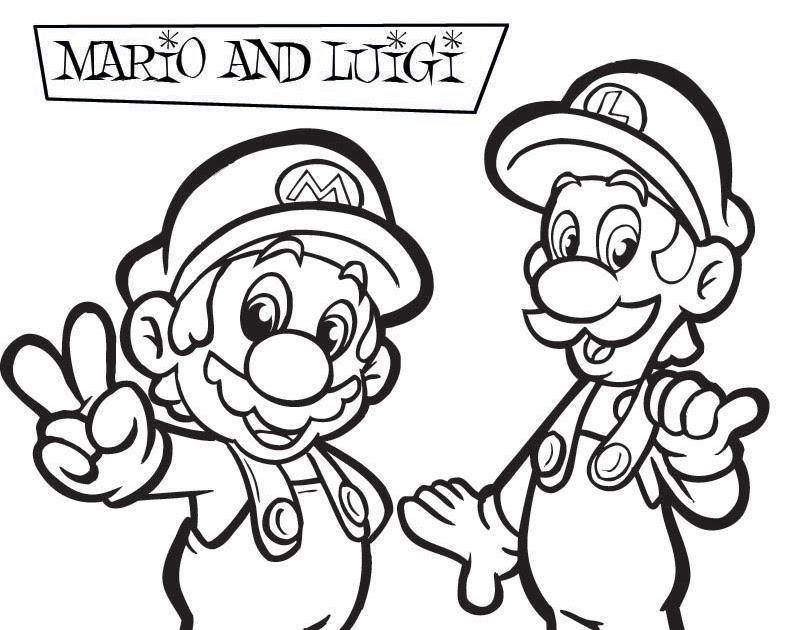 math coloring sheets : Mario Bros Castle Coloring Page