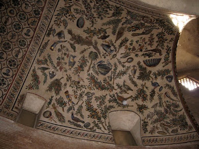 A ceiling mosaic at Santa Constanza.