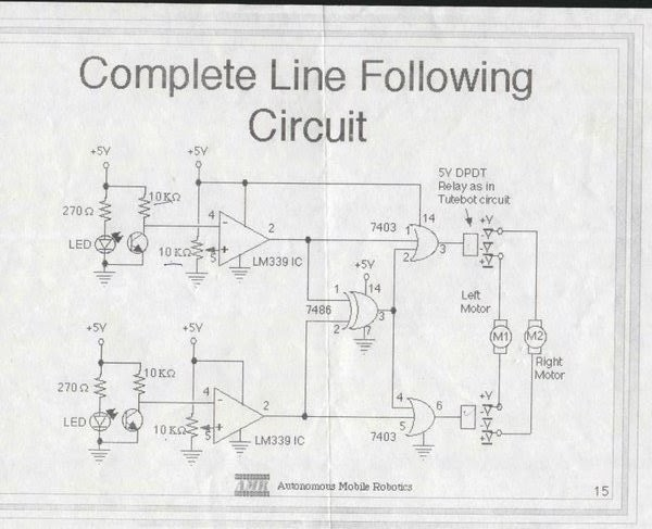 ROBOTICS FOR U: Simple line follower using logic gates