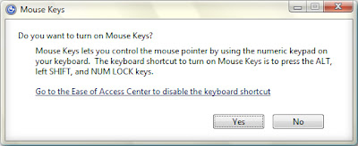 Control Mouse pointer by KEYBOARD
