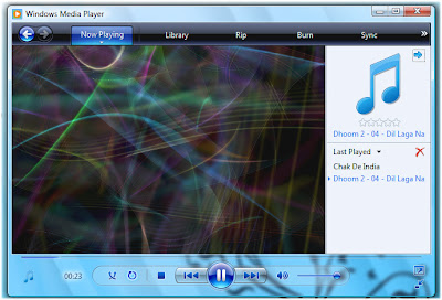 Windows Vista screensaver inspired visualization for Windows Media Player