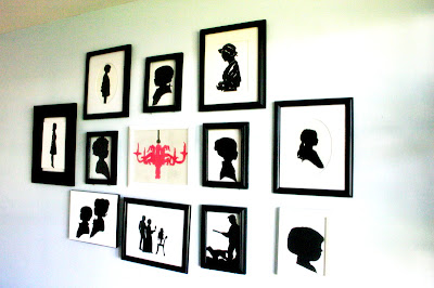 Easy For Dad's To Help Kids Make-Family Silhouette Tutorial-Mothers Day Gift