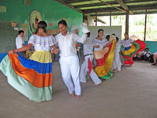Erica Ridley in Costa Rica: native children performing typical dances