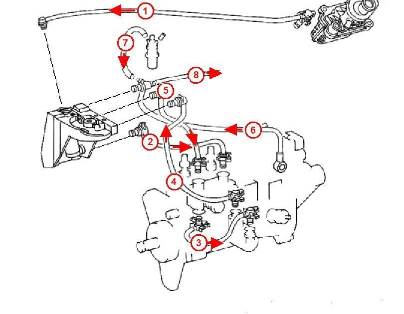 Jake's 99 e300d Vegoil Conversion: Injection pump plumbing