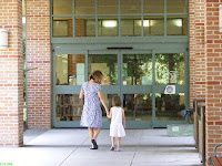 Mom and daughter entering the Hilton Head Library