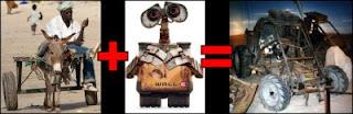 Wall-E and a donkey cart