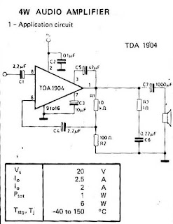 Small IC amplifiers for speakers