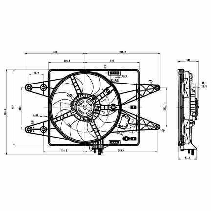 Ventilateur radiateur FIAT DOBLO MPV (119_, 223_) 1.9 D